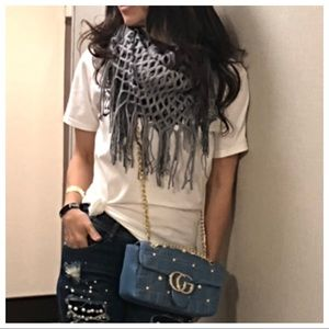 Accessories - Grey fringe infinity scarf